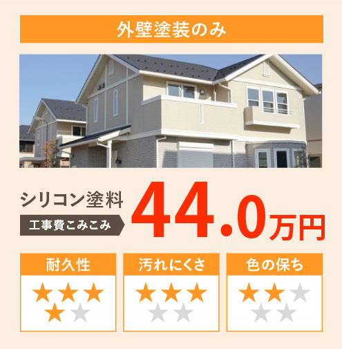 外壁塗装のみ シリコン塗装 工事費込み込み40.0万円