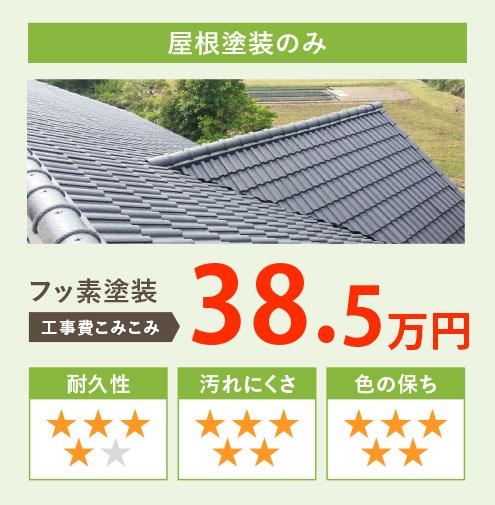 屋根塗装のみ フッ素塗装 工事費込み込み35.0万円
