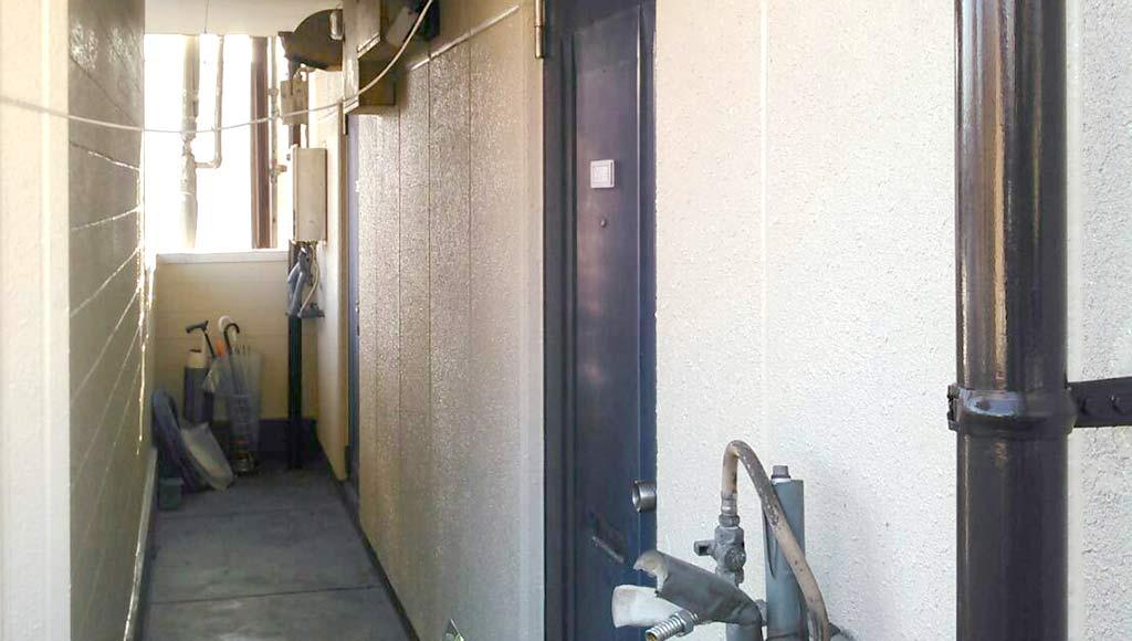 熊本県熊本市中央区 アパート 外壁塗装