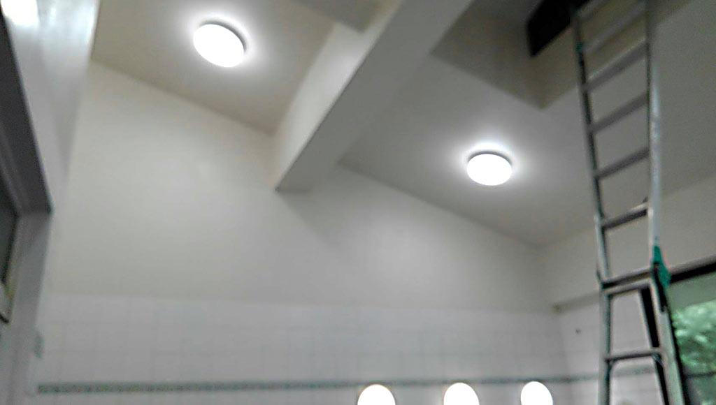 熊本県南阿蘇 老人ホーム 浴室天井・壁 改修工事