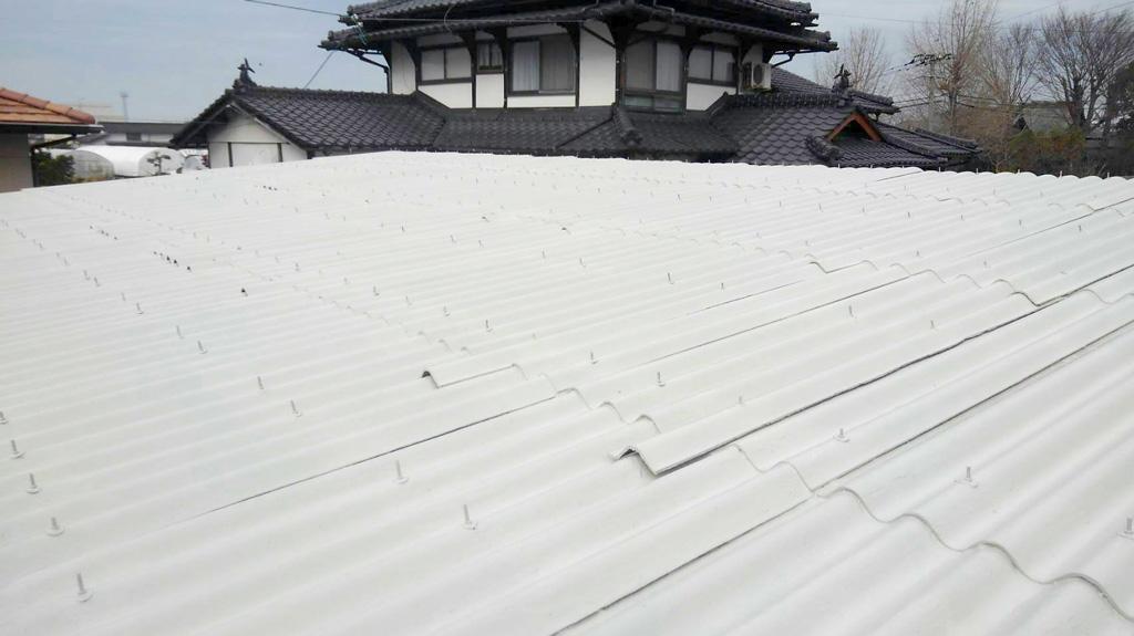 熊本県七城町 N様邸 倉庫 屋根塗装