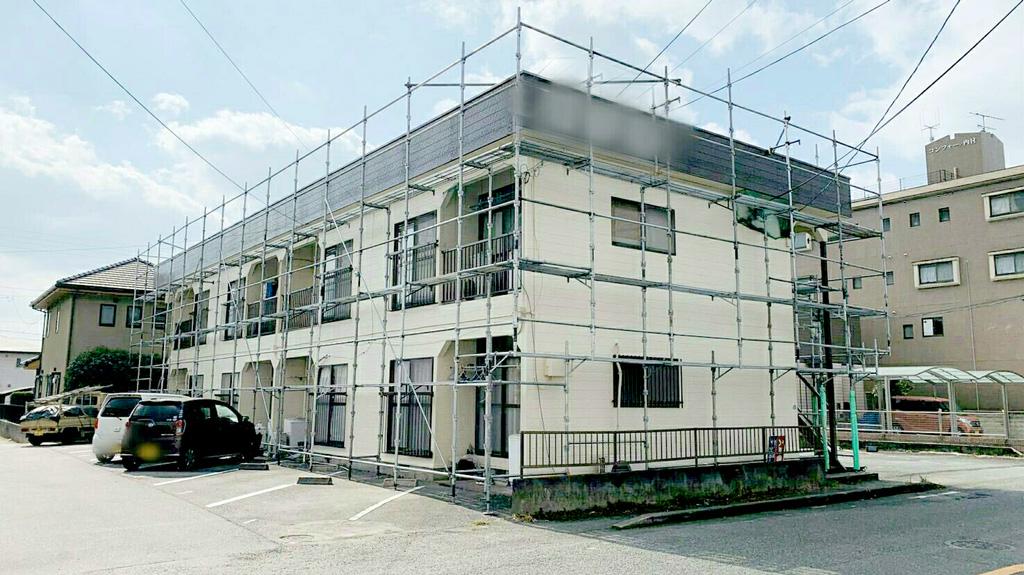 熊本県熊本市東区 アパート 外壁塗装