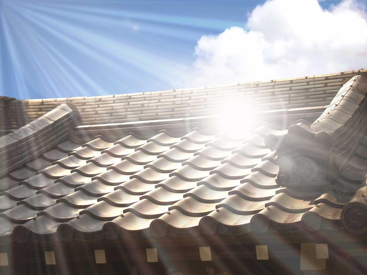 太陽と住宅
