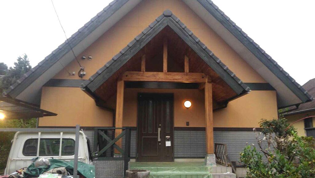 熊本県南阿蘇 H様邸 部分塗装