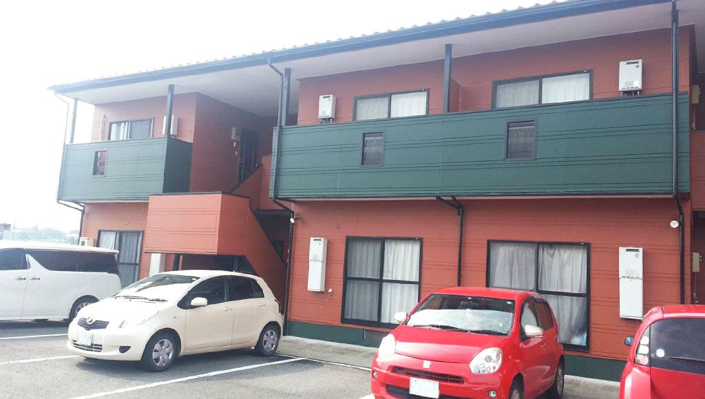 熊本県玉名市 アパート 外壁塗装
